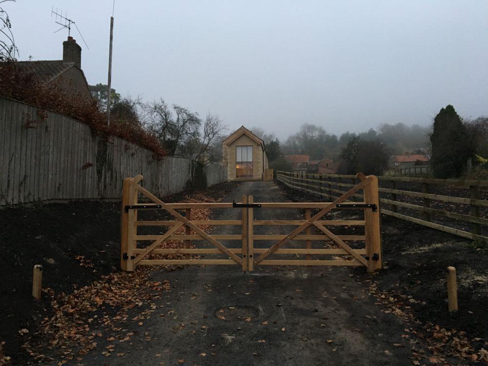 Hardwood Estate Field Gates